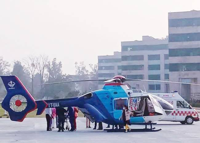 PREGNENT WOMEN HELI RECUED